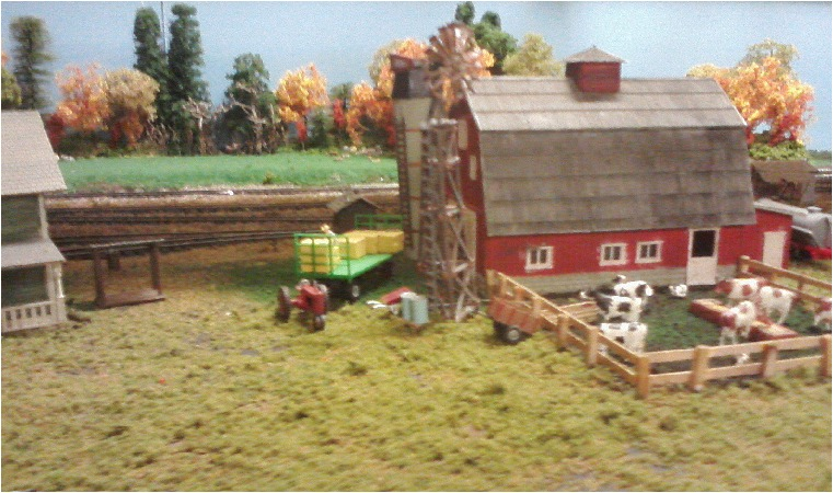 A highly detailed farm